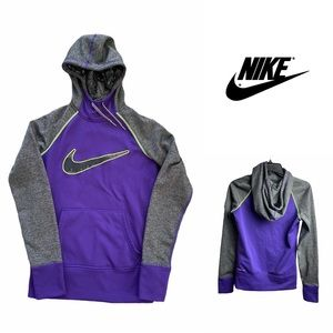 EUC Nike Pull Over Hoodie Purple/ Gray Size XS